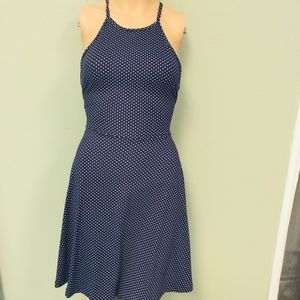 Francesca Blue and White  dress in size small